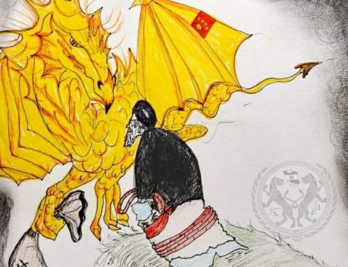آخوند در حال فروش کشور به چین ( طرحی از ایران بانو)