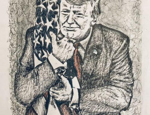 پرزیدنت ترامپ میهن پرست و دلاور زمان ( طرحی از حسه جم)