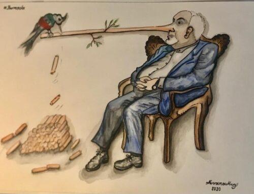 جواد ظریف پینوکیوی زمان ( طرحی از مریم سجادی)