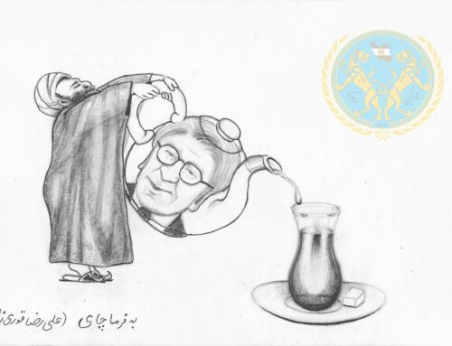 علیرضا قوری زاده ( نوری زاده ) نوکر آخوندها ( کاریکاتور گربه)